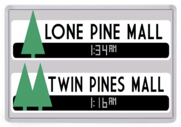 Lone Pine / Twin Pines Mall Fridge Magnet. Inspired by Back to the Future